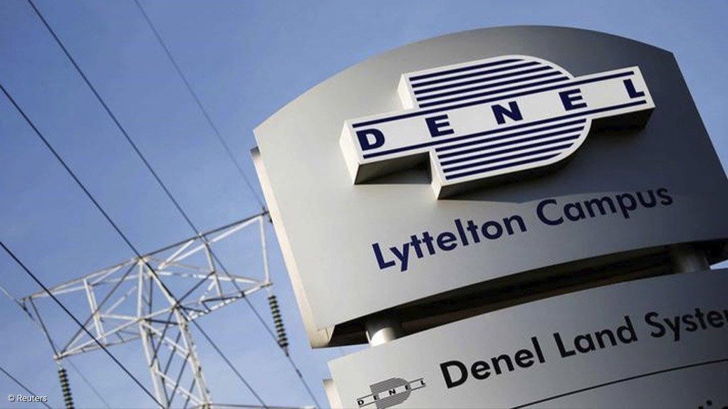An image of Denel's logo