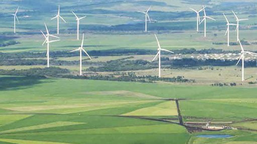 Image of a wind farm deveoped by Exxaro's Cennegi.