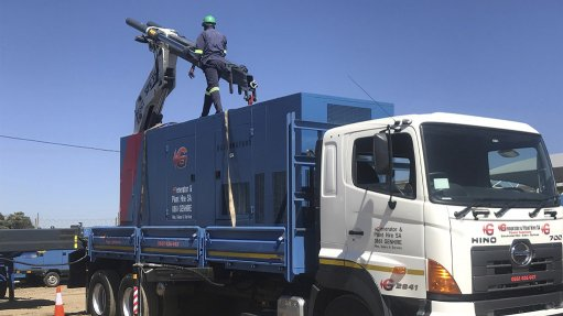An image of a 500 KVA generator used to power mines during load shedding