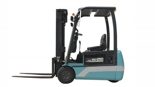 A photo of a Baoli electric forklift