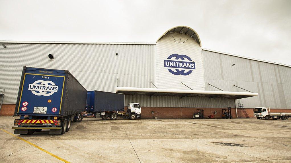 A photo of a Unitrans warehouse