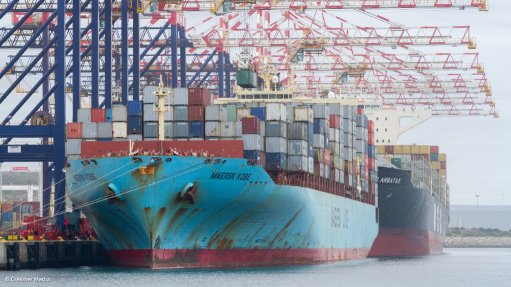 A Photo of a container ship at the Port of Ngqura