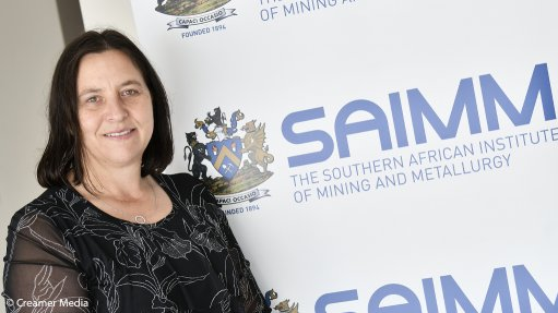 An image of new SAIMM president Isabel Geldenhuys
