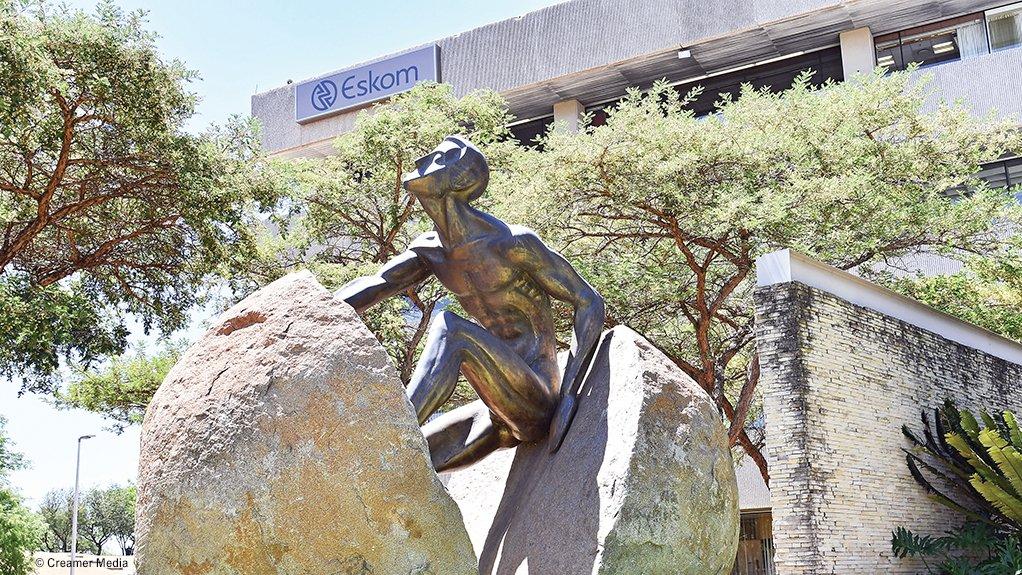 Image of the rock statue outside of Eskom's Megawatt Park