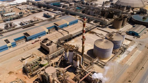 A drone image of the Skorpion zinc refinery in Namibia which South Africa imports zinc from according to the IZA Africa Desk