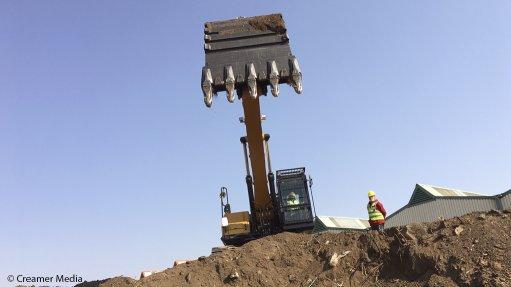 A Sany excavator