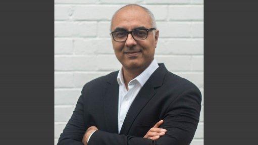 An image of Metair CEO Riaz Haffejee