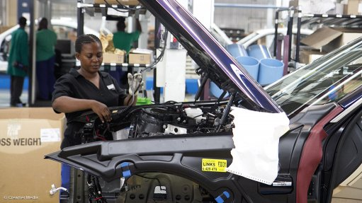Image of an assembly line worker at BMW SA