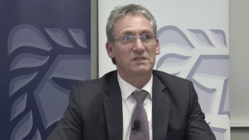 Screenshot of Chris Griffith taken during online Gold Fields presentation in August 2021.