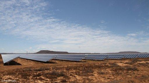 A photo of a utility scale solar farm