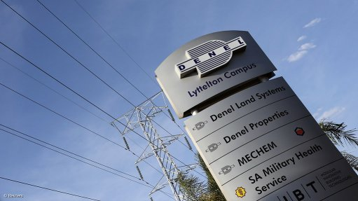 An image showing a sign at Denel's Lyttelton Campus