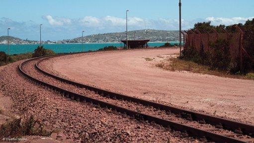 An image of Transnet Freight Rail's iron-ore rail corridor