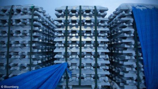 An image showing stacks of aluminium.