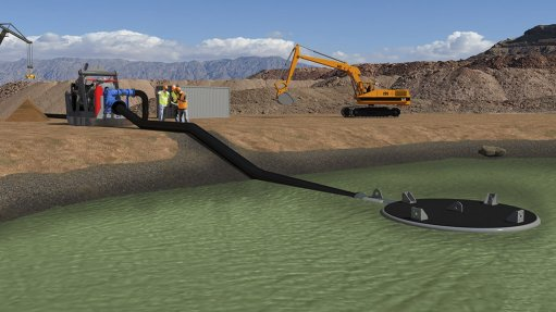 A graphic of Centex's Lily Pad shallow water dewatering solutio