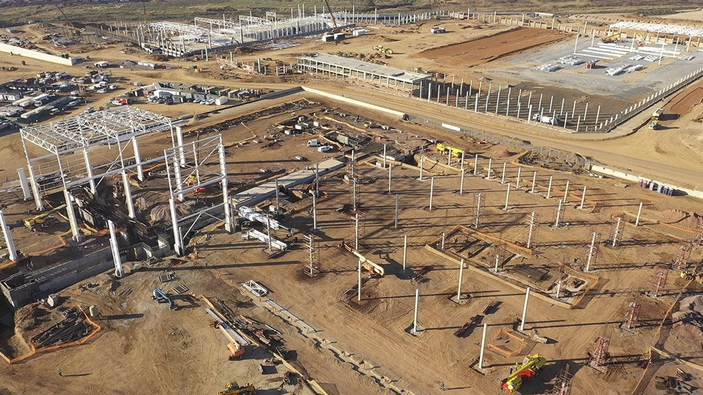 An image of the construction site  of the TASEZ project