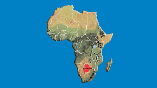 Botswana's location on African continent