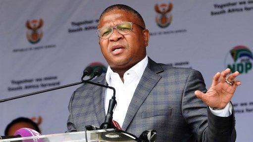 An image of Transport Minister Fikile Mbalula