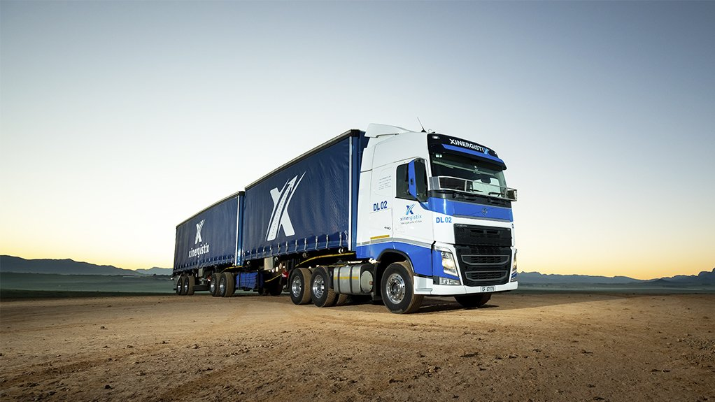 a large truck standing idle
