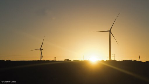 An image of wind turbines
