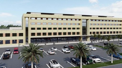 Pic of Artist impression of the new hospital in Ghana