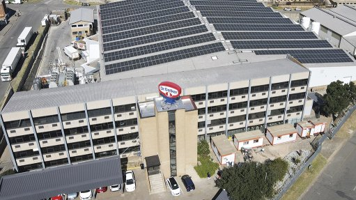 A large solar installation on a clients roof installed by EP Refrigeration, which is grid-tied and decreases the clients reliance on grid power