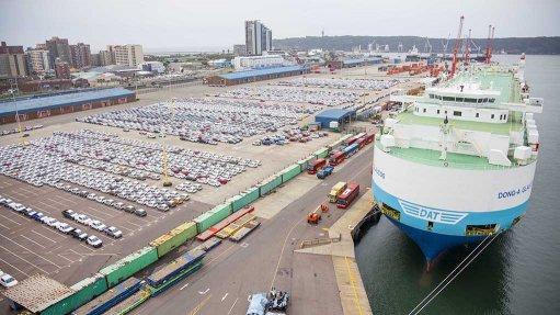 View of the Durban car Terminal