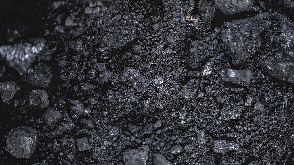 A close up image of coal