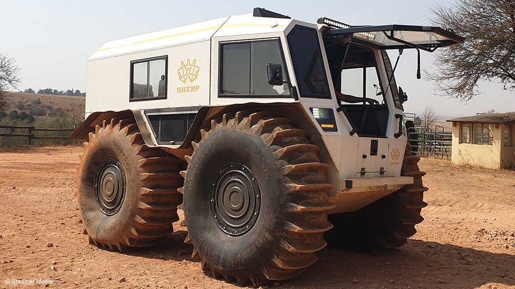 An image of the Sherp vehicle