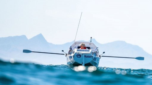 A photo of Zirk Botha on his boat Ratel
