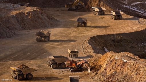 Image shows an openpit mining operation