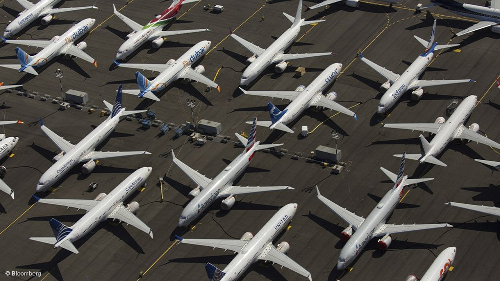 A photo of Boeing 737 Max jets parked in Seattle, Washington