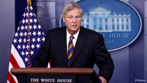 An image of Tom Vilsack speaking at a White House briefing