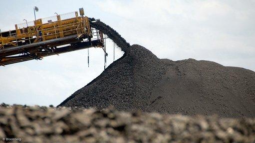 Image shows coal loader at work
