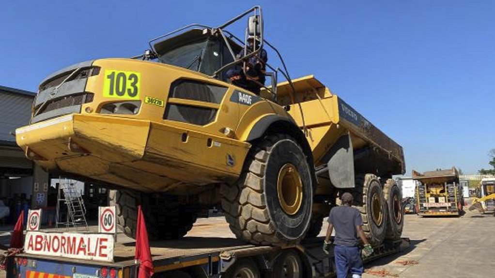 This picture is of a mining vehicle being shipped by MHS Plant and Equipment to a Zambia-based junior miner