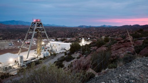 An image of mining infrastructure at Resolution in Arizona.