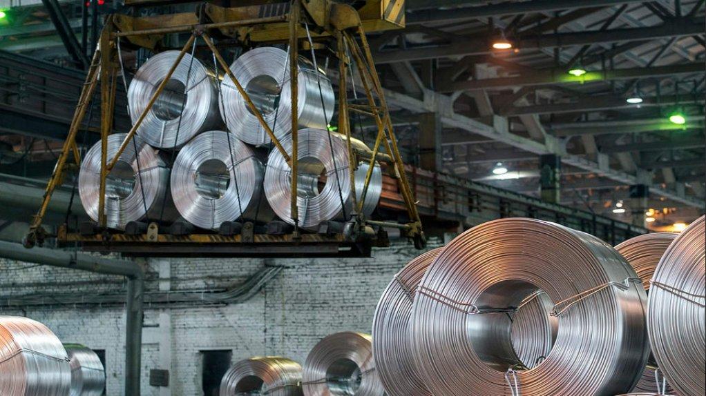 An image of rolls of aluminium.
