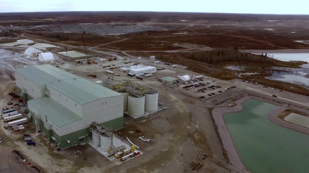 An image showing facilities at the Rainy River mine.
