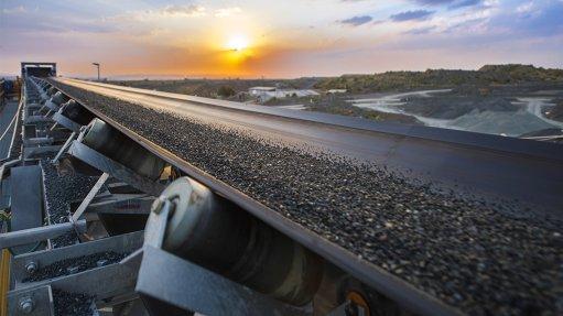 Conveyor belt at Petra Diamonds' Cullinan mine
