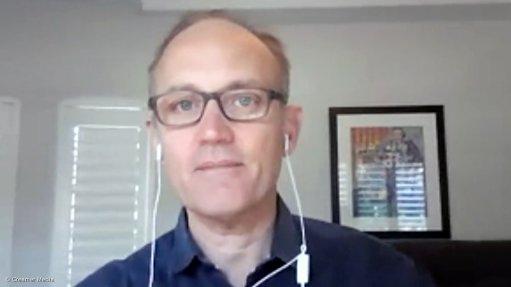 Creamer Media screenshot of AmaranthCX director Paul Miller taken during Zoom interview.