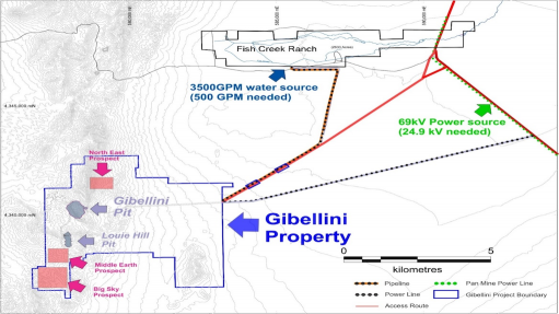 Image of the location of the Gibellini vanadium project, in the US