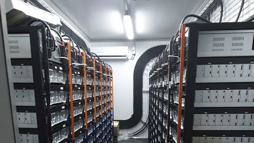 A photo of a battery storage system