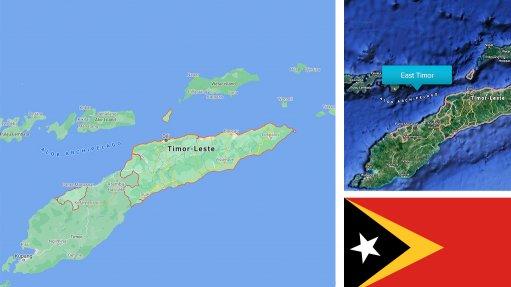 Image of East Timor map/flag