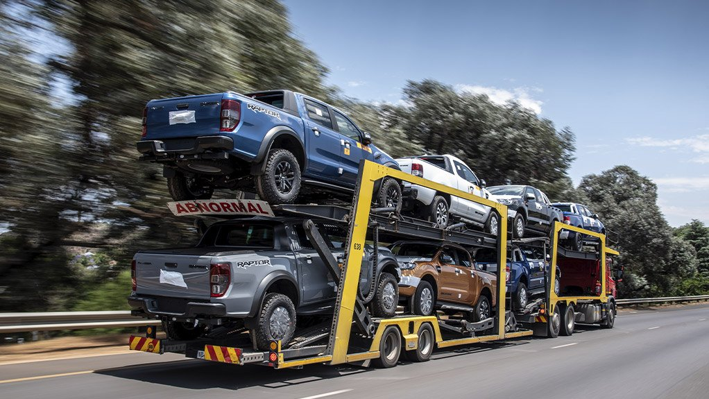 Image of Ford Rangers on a truck