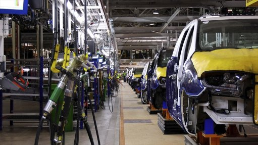 Image of the inside of the Ford plant in Pretoria