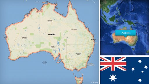 Image of Australia map/flag