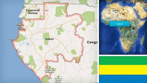 Image of Gabon map/flag