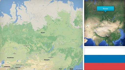 Image of Russia map/flag
