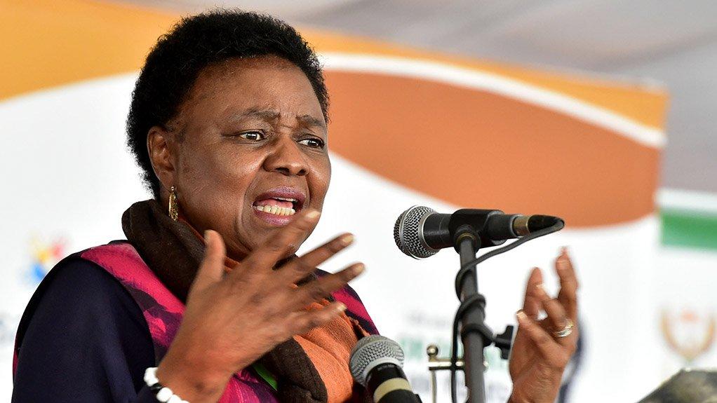 Image of Deputy Minister in the Presidency Hlengiwe Mkhize