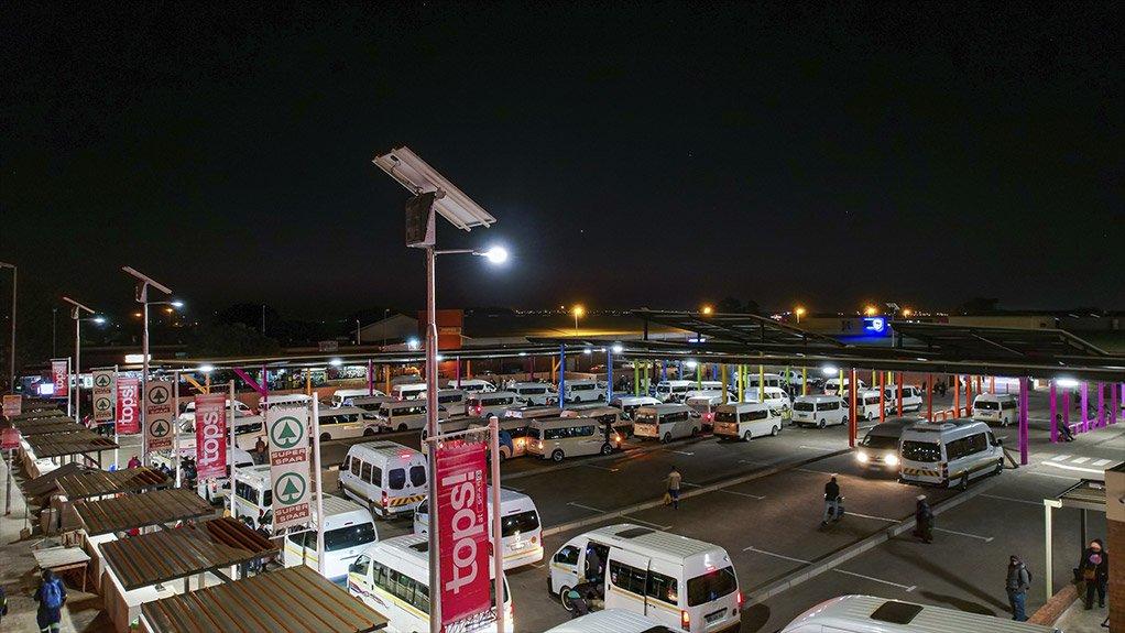 BEKA SOLAR luminaires provide general area lighting at the taxi ranks
