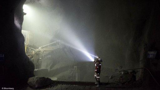 A generic image of underground mining.